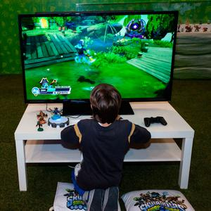 Shoot to thrill: A child plays Fortnite: Battle Royale