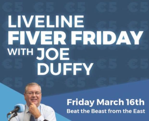 Broadcaster Joe Duffy famously is bringing back 'Fiver Friday'