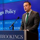 Taoiseach Leo Varadkar gives a Foreign Policy speech at the Brookings Institute in Washington DC on day three of his week long visit to the United States of America. Niall Carson/PA Wire