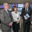 Pat Rabbitte, ex-communications minister; Kate Shanahan, Head of Journalism DIT; Stephen Rae, INM Editor-in-Chief; Jane Ohlmeyer, Professor of Modern History at TCD; and Kevin Doyle, INM