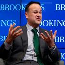 Taoiseach Leo Varadkar takes questions from the floor at the Brookings Institute in Washington DC on day three of his week long visit to the United States of America. Niall Carson/PA Wire