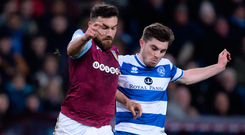 Robert Snodgrass of Aston Villa and Ryan Manning of Queens Park Rangers in action. Photo: Getty Images
