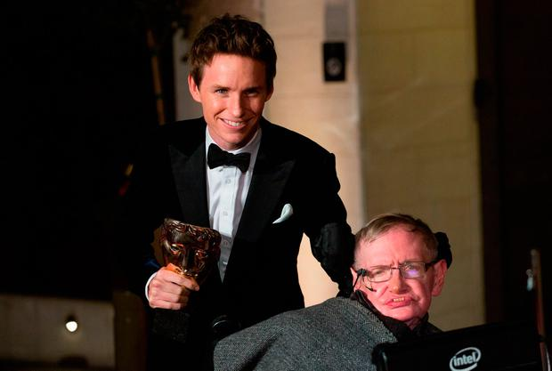 File photo dated 08/02/2015 of Eddie Redmayne and Professor Stephen Hawking, who has died aged 76, arriving at the After-party dinner for the EE British Academy Film Awards at Grosvenor House Hotel in London. Daniel Leal-Olivas/PA Wire