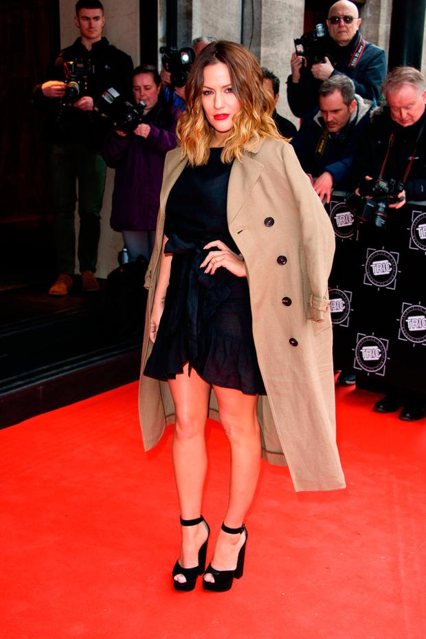 Caroline Flack attends the TRIC Awards 2018 held at The Grosvenor House Hotel on March 13, 2018 in London, England. (Photo by Joe Maher/Getty Images)