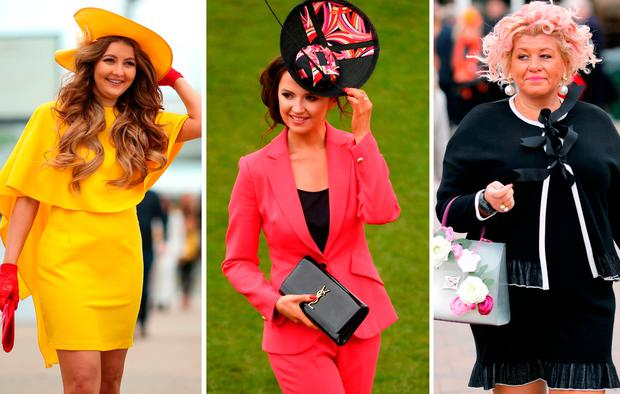Racegoers arrive at Cheltenham Racecourse for Ladies Day