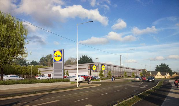 An image supplied by Lidl of what the new store in Fortunestown will look like