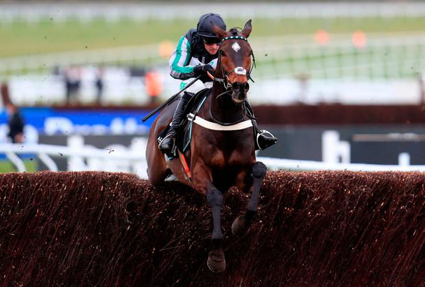 Altior ridden Nico de Boinville goes on to win the Betway Queen Mother Champion Chase during Ladies Day of the 2018 Cheltenham Festival at Cheltenham Racecourse.
