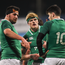23 February 2018; Ireland players, from left, Jack Aungier, Tommy O'Brien and Harry Byrne during the U20 Six Nations Rugby Championship match between Ireland and Wales at Donnybrook Stadium in Dublin. Photo by David Fitzgerald/Sportsfile