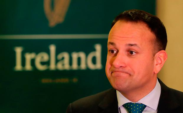 Taoiseach Leo Varadkar speaking to the media at the US Chamber of commerce in Washington DC on day four of his week long visit to the United States of America. Niall Carson/PA Wire