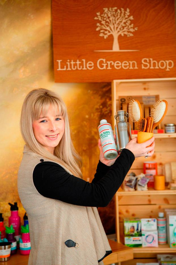 Jane Thornton who runs Little Green Shop, an online 'green business' based in Mullingar. Picture: Jeff Harvey