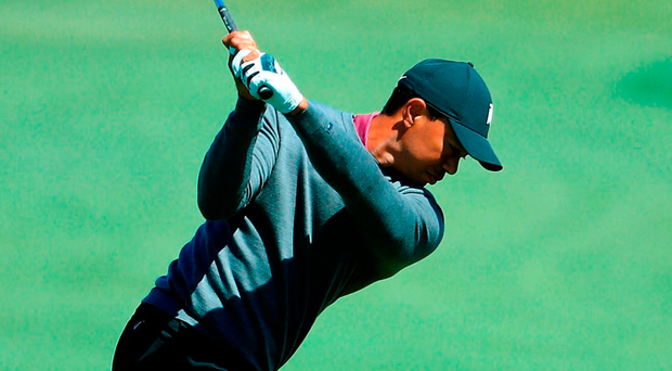 Stenson and DeChambeau share lead as Woods slips