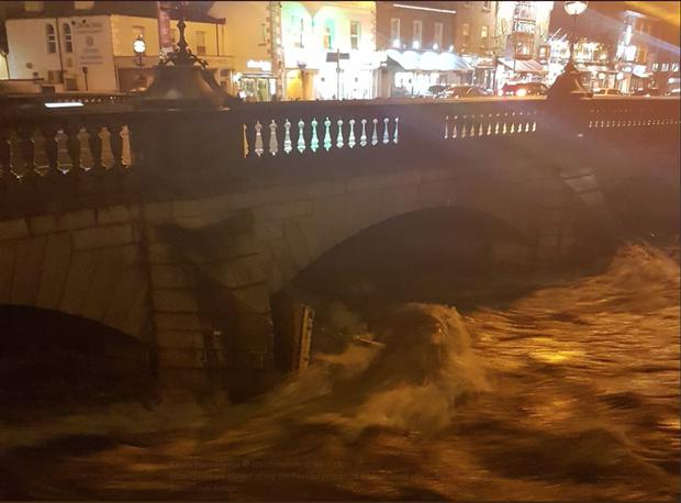 Picture taken at Ballsbridge bridge tonight by Labour Senator Kevin Humphreys