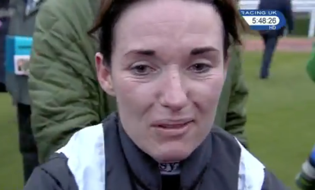 Katie Walsh struggled to contain her emotions on a mixed day for her family at Cheltenham