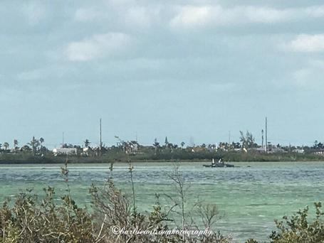 A U.S. Navy jet is seen after it crashed near Naval Air Station Key West off the coast the Florida Keys