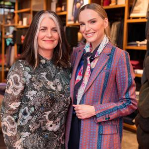 Cathy O'Connor & Sarah Morrissey at the Magee 1866 SS18 fashion show at Magee on South Anne Street. Picture: Anthony Woods