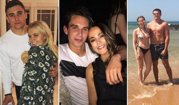 (L to R) Jordan Larmour and Lucy Byrne, Joey Carbery and Robyn Flanagan, Jessica Gardiner and Jacob Stockdale