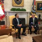 Taoiseach Leo Varadkar and US president Donald Trump (Picture: Philp Ryan)