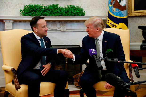 US President Donald Trump meets with Ireland's Prime Minister (Taoiseach) Leo Varadkar in the Oval Office of the White House in Washington, U.S., March 15, 2018. Reuters: Kevin Lamarque