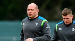 Rory Best will win this 111th international cap at Twickenham but it's the Grand Slam the Irish captain is more interested in. Photo: Sam Barnes/Sportsfile