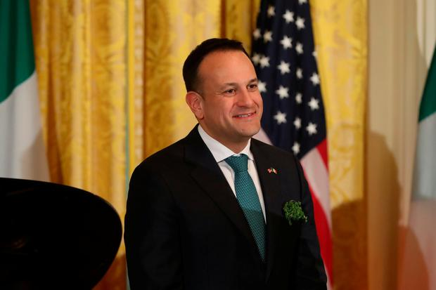 Taoiseach Leo Varadkar at the annual shamrock presentation ceremony at the White House in Washington DC, USA. Picture: Niall Carson/PA Wire