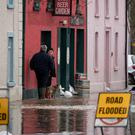 Floods in Thomastown, Co Kilkenny, yesterday after the River Nore burst its banks. Photo: Dylan Vaughan