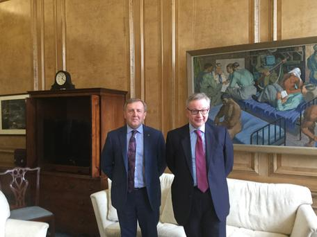 Minister for Agriculture, Food & Marine, Michael Creed T.D., met with his UK counterpart, Secretary of State for Environment, Food and Rural Affairs Michael Gove M.P. at DEFRA HQ London.