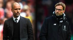 Man City will play Liverpool in the Champions League quarter-final.