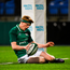 23 February 2018; Tommy O'Brien of Ireland scores his side's fifth try during the U20 Six Nations Rugby Championship match between Ireland and Wales at Donnybrook Stadium in Dublin. Photo by David Fitzgerald/Sportsfile