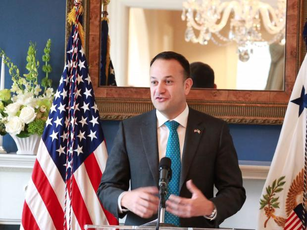 Taoiseach Leo Varadkar during his speech at the St Patrick's Day breakfast of Vice President Mike Pence (picture provided by the Taoiseach's office)
