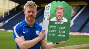 Preston North End and Republic of Ireland's Daryl Horgan was at Deepdale celebrating the reveal of his FIFA 18 Ultimate Team Green item, as part of this year's FUT Birthday celebration.