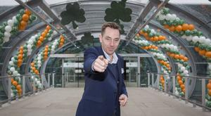 Ryan Tubridy pictured at Dublin Airport on Monday on his way to Cheltenham to present his radio show