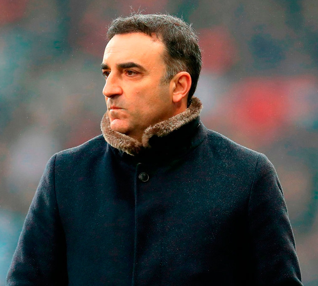 Swansea City manager Carlos Carvalhal. Photo: Mike Egerton/PA