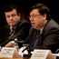 Brian Cowen (right) and Brian Lenihan, the then Taoiseach and Finance Minister respectively, during the recession of 2008