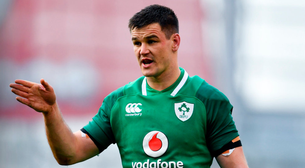 KEY MAN: Ireland outhalf Johnny Sexton will be central to sealing the Grand Slam today at Twickenham. Photo: Ramsey Cardy/Sportsfile
