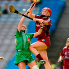 Maria Cooney in action for Galway at Croke Park, where she returns tomorrow with Sarsfields in the hope of claiming All-Ireland club success. Photo: Sportsfile