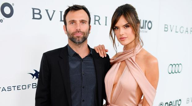 Model Alessandra Ambrosio (R) and Jamie Mazur attend the 25th Annual Elton John AIDS Foundation's Academy Awards Viewing Party at The City of West Hollywood Park on February 26, 2017 in West Hollywood, California. (Photo by Dimitrios Kambouris/Getty Images for EJAF)