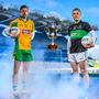 7 March 2018; Gary Sice of Corofin, left, and Paddy Gumley of Nemo Rangers are pictured ahead of the AIB GAA All-Ireland Senior Football Club Championship Final taking place at Croke Park on Saturday, 17th of March. For exclusive content and behind the scenes action throughout the AIB GAA & Camogie Club Championships follow AIB GAA on Facebook, Twitter, Instagram and Snapchat and www.aib.ie/gaa. Photo by Sam Barnes/Sportsfile