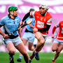 Shane Dowling of Na Piarsaigh in action against Darragh O'Connell of Cuala