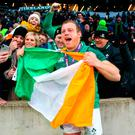 Ireland's Sean Cronin celebrates winning the Grand Slam