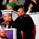 Eddie Jones looks on during the NatWest Six Nations match between England and Ireland at Twickenham