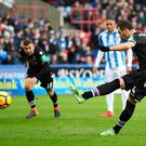 Luka Milivojevic of Crystal Palace scores his side's second goal from the penalty spot. Photo: Getty Images