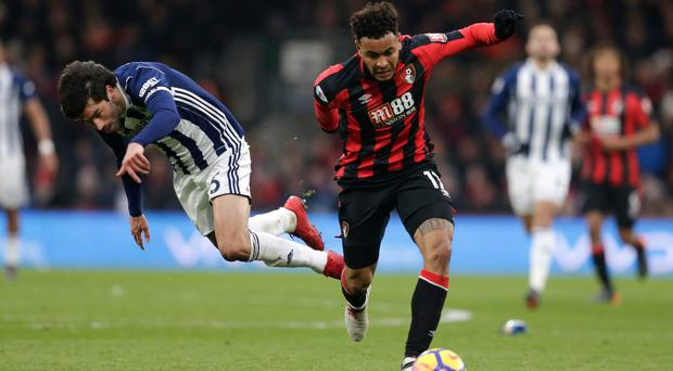 Claudio Yacob of West Bromwich Albion and Joshua King of AFC Bournemouth battle for the ball. Photo: Getty Images