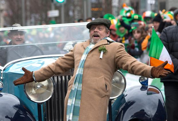 Parade guest star Mark Hamill aka Luke Skywalker made sure the Dublin parade was out of this world