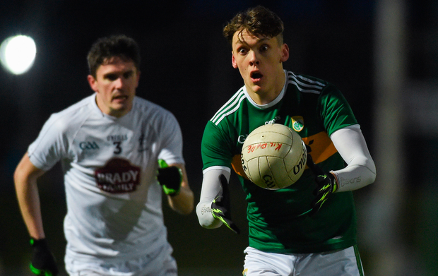 Kerry's David Clifford ahead of Kildare's David Hyland. Photo: Sportsfile