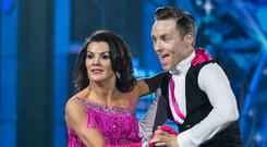 SPARKING SEXISM ROW: Comedian Deirdre O'Kane — who claims the show is 'infected with gender bias' — and John Edward Nolan take to the floor on RTE's 'Dancing with the Stars'. Photo: Kyran O'Brien