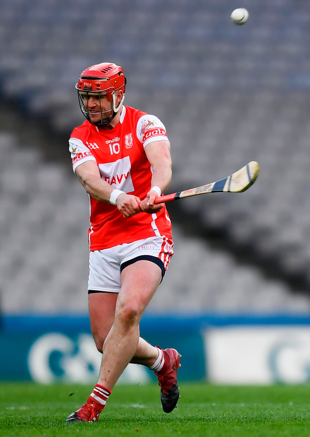Cuala's David Treacy of Cuala scores a free. Photo: Sportsfile