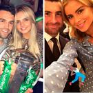 (L to R) Robyn Flanagan and Joey Carbery, Conor Murray and Joanna Cooper, Jess Redden and Rob Kearney