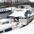 Snowy conditions return to the canal in Sallins, Co. Kildare. Photo: Tony Gavin 18/3/2018