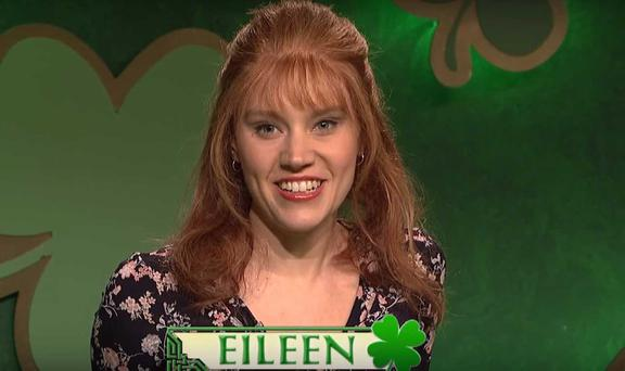 Kate McKinnon in a St Patrick's Day sketch on Saturday Night Live