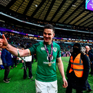Jonathan Sexton of Ireland celebrates